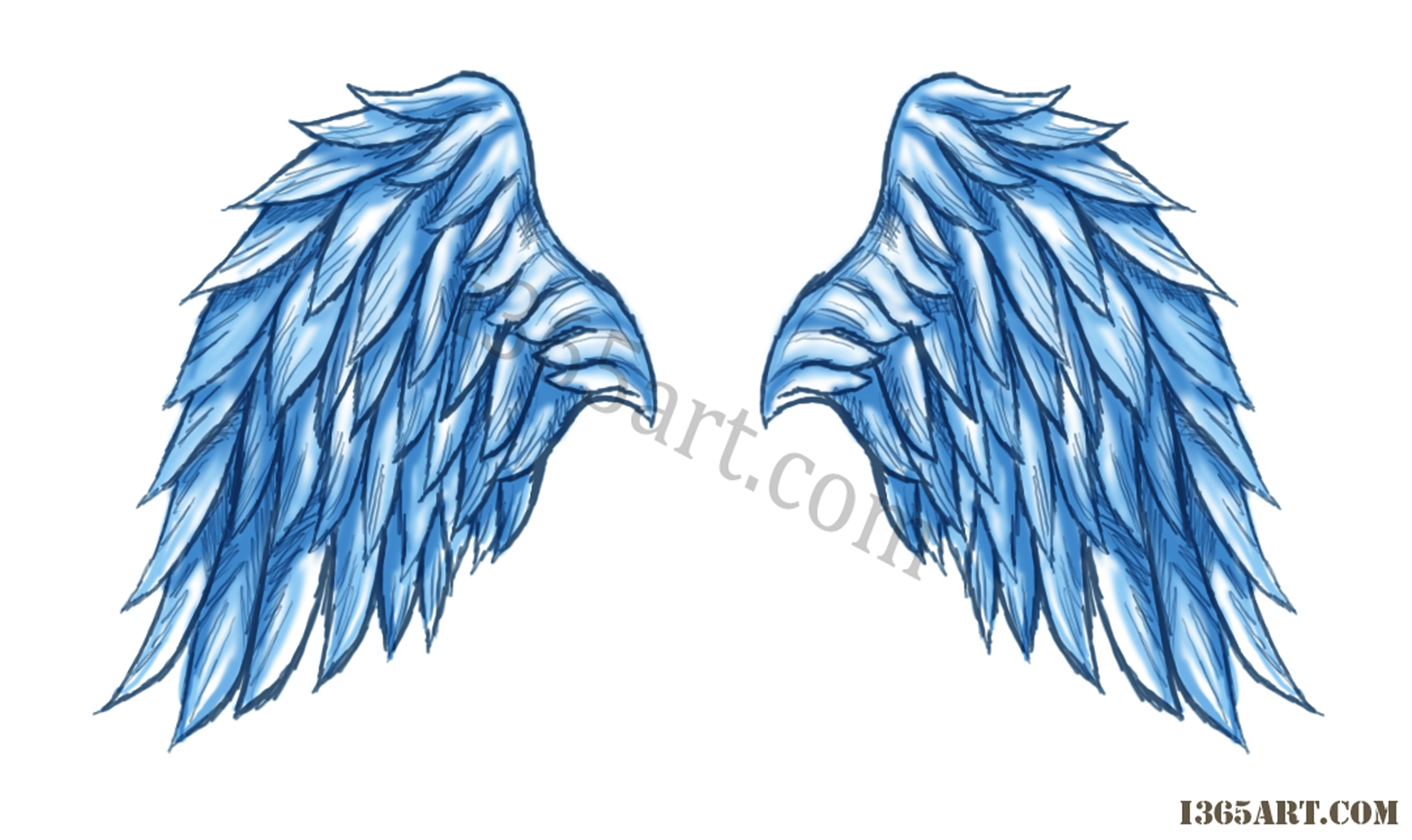 Day #43 Angel Wings | I 365 Art