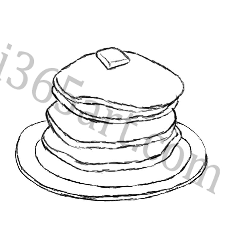Pancakes Free Coloring Pages Pancake Colouring Pages