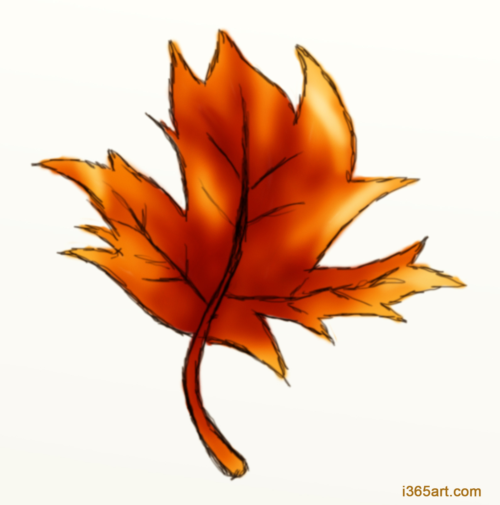 Uncategorized Drawing Fall Leaves day 177 its almost september eek i 365 art autumn leaf