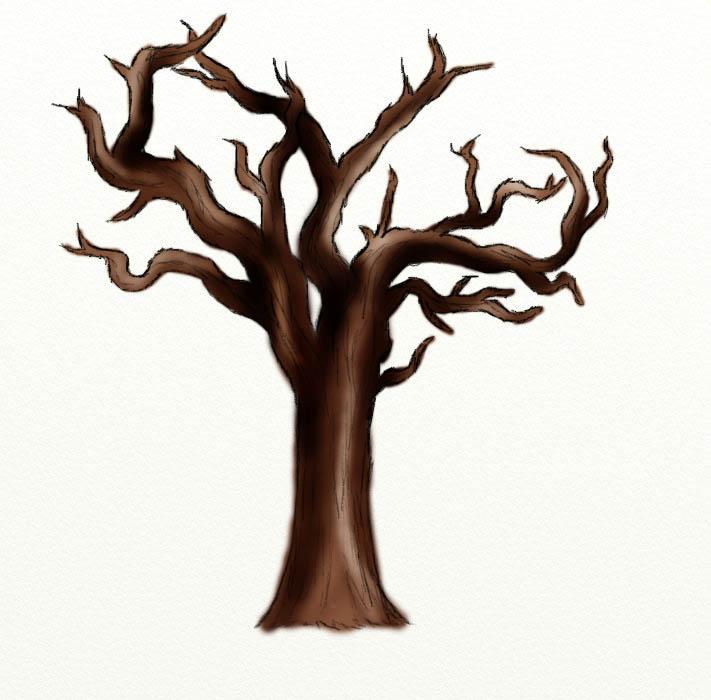 deadtree Day #238 Withered Tree Drawing