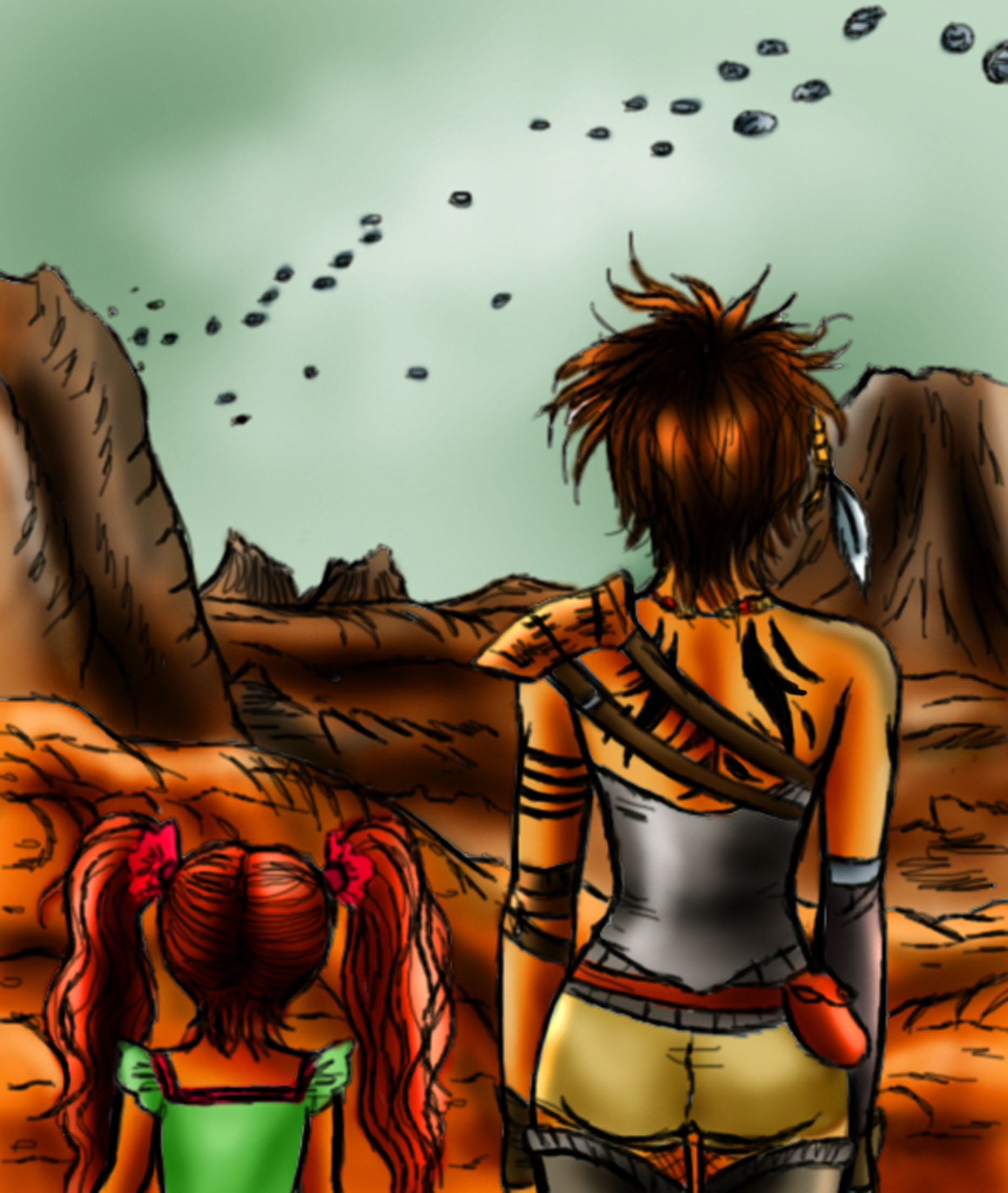 orn wendy desert Day #274 Post Apocalyptic Desert (in color)
