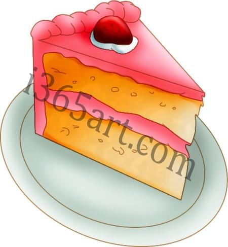 strawberry cake clipart
