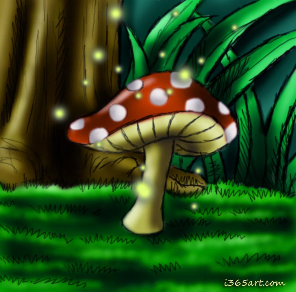 mushroom glow