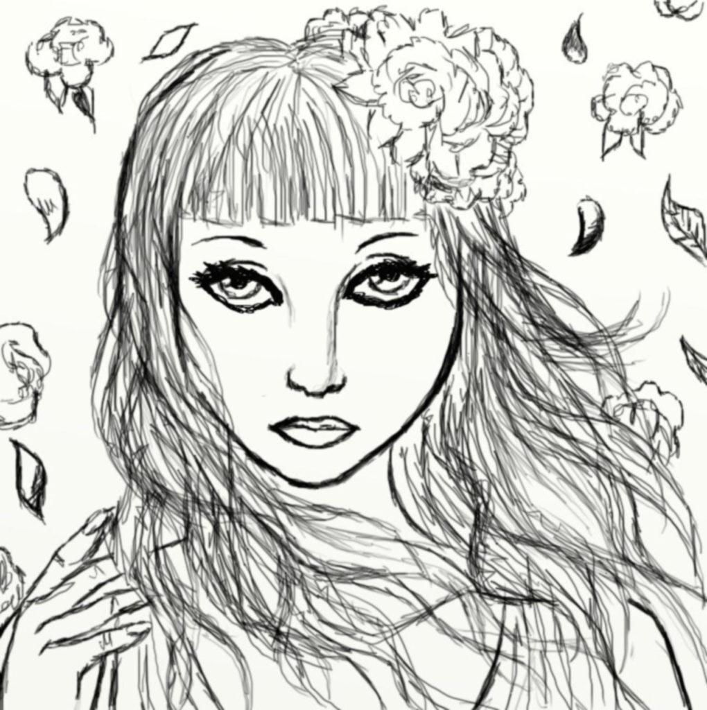 fantasy girl illustration