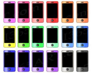 Rainbow Smartphone Clipart