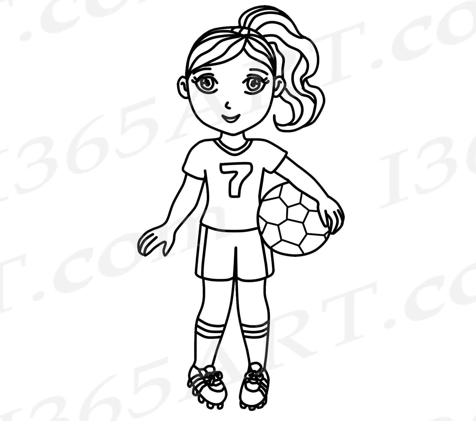 Soccer, Pink Soccer Girl Clipart, Sports Clip Art, World ...