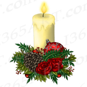 christmas candle clipart