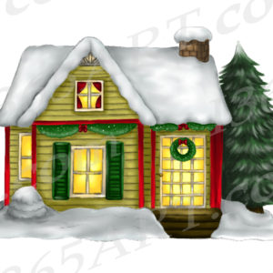 christmas house clipart