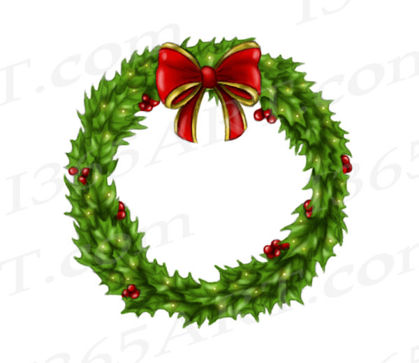 holly wreath clipart