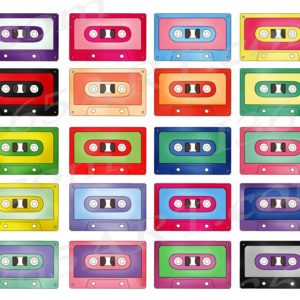 retro cassette tape clipart