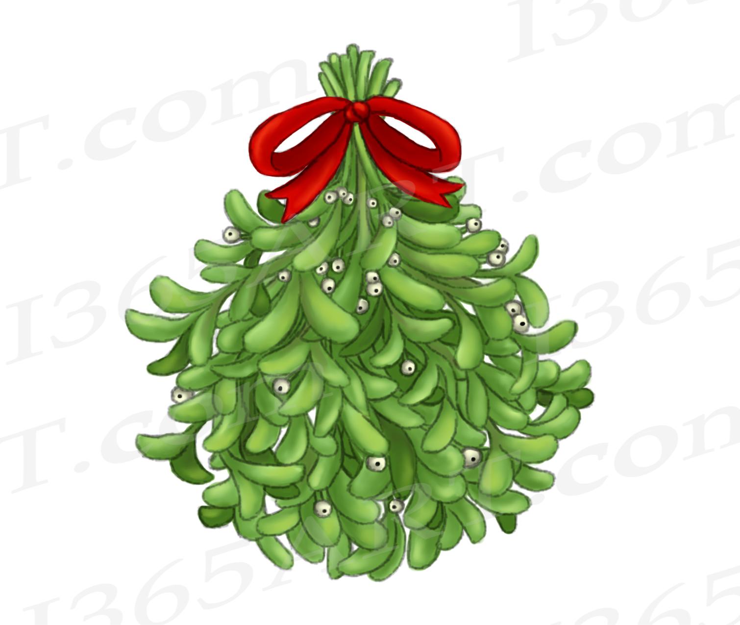 Mistletoe Clipart, Watercolor Mistletoe Clip Art Graphic ...