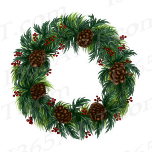 winter wreath clipart