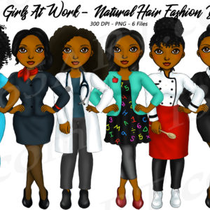 Girls At Work Clipart