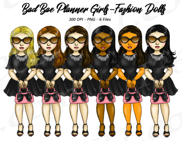 Retro Girls Clipart