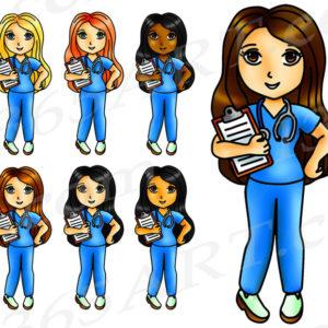 girl nurse clipart