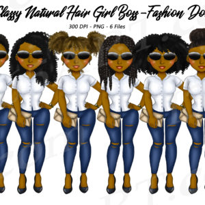 Black Girl Boss Clipart