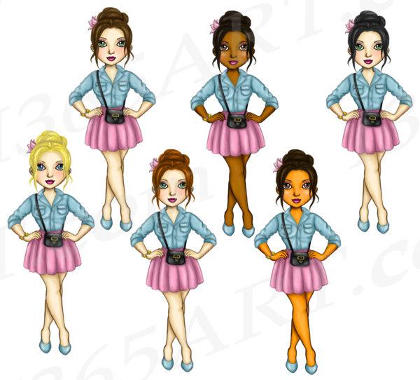 Skirt Girl Clipart