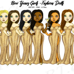 New Years Eve Girls Clipart