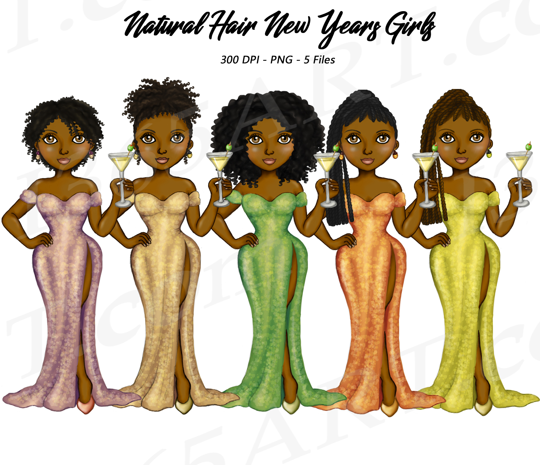 new years eve clipart natural hair fashion dolls i 365 art new years eve clipart natural hair fashion dolls