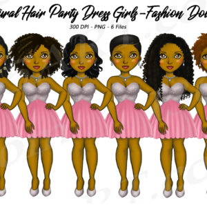 Natural Party Girls Clipart