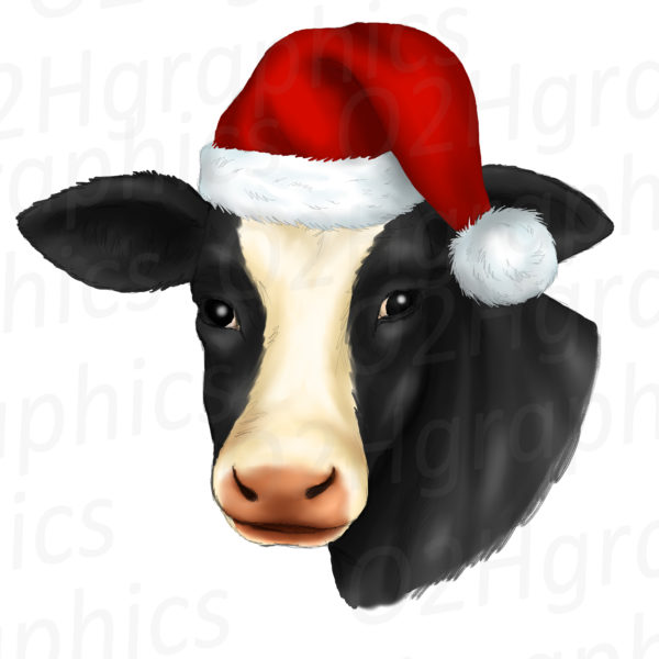 Christmas Cow Clipart