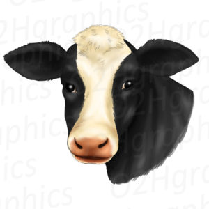 Cow Face Clipart