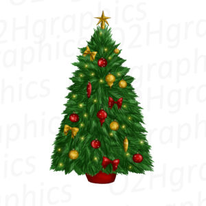 Decorated Christmas Tree Clipart