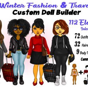 Winter Fashion & Travel Clipart