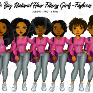 Duffel Bag Fitness Black Girls Clipart