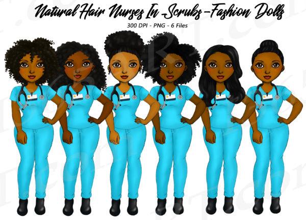 Black Nurse Clipart