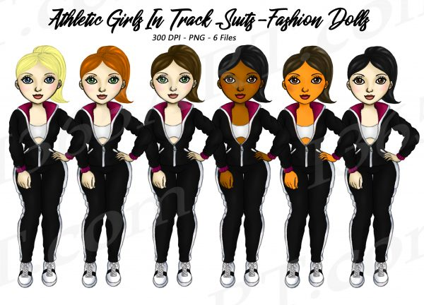Tracksuit Girls Clipart