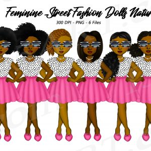 Feminine Black Woman Clipart