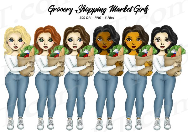Woman Grocery Clipart
