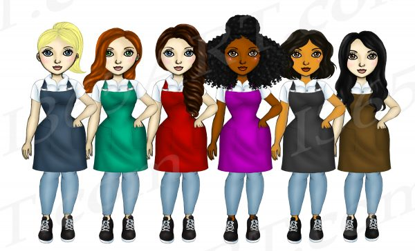 Female Clerks Clipart