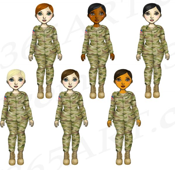 Female Soldier Clipart