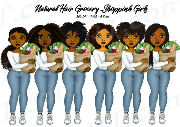 Black Woman Grocery Clipart
