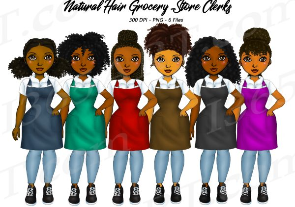 African American Clerks Clipart