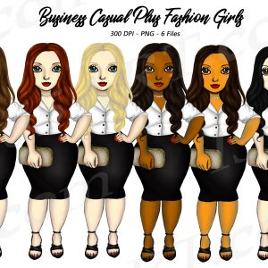 Plus Size Business Woman Clipart