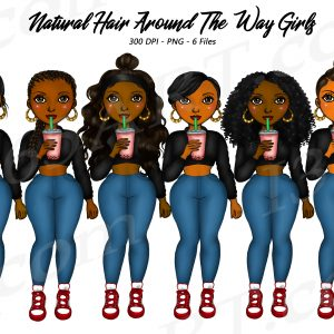 Around the way girl Clipart