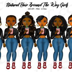 Around the way girl Clipart