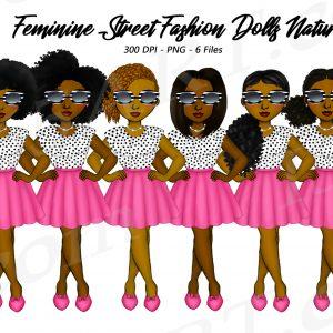 Feminine Black Women Clipart