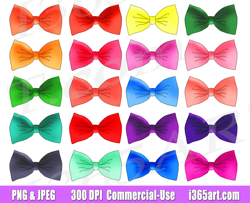 Bow tie Clipart, printables, planner supply icons, graphics, Commercial