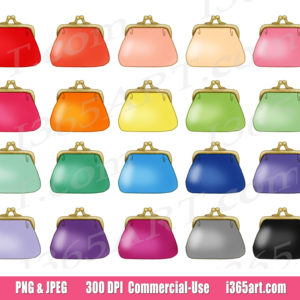 coin purse clipart