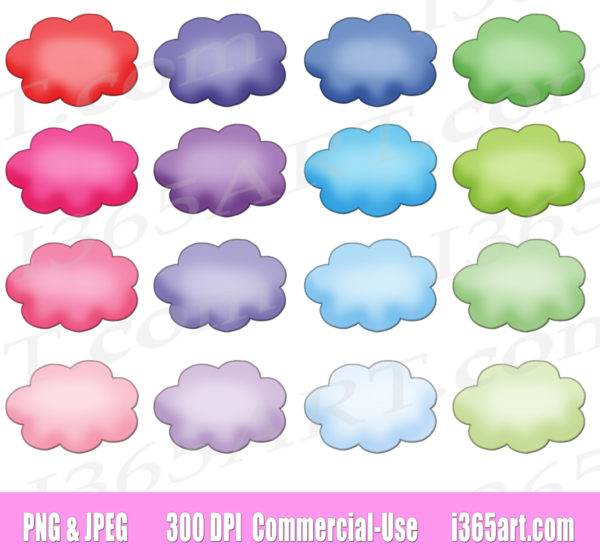 cloud bubble clipart